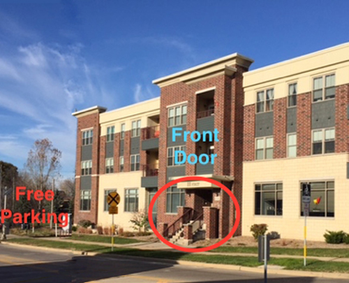 Office exterior 111 first street , free parking